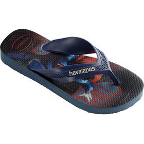 havaianas Max Herois Flips Kids Indigo Blue